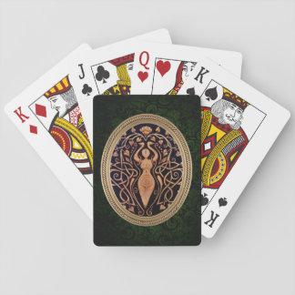 Lotus-Göttin-Spielkarten - Grün Spielkarten