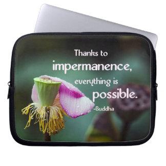 Lotus/Impermanence-Buddha Klugheits-Zitat Laptopschutzhülle