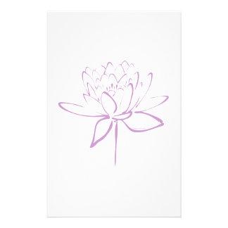 Lotus-Kalligraphie (Lavendel) Personalisiertes Druckpapier