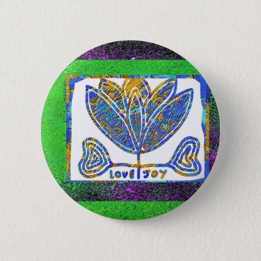 Lotus: Liebe und Freude Runder Button 5,1 Cm