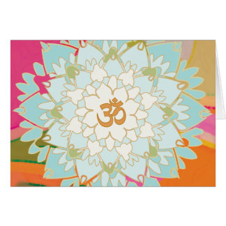 Lotus-Mandala-Gruß-Karte Grußkarte