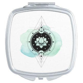 *~* Lotus-Mond spielt heilige Geometrie die Taschenspiegel