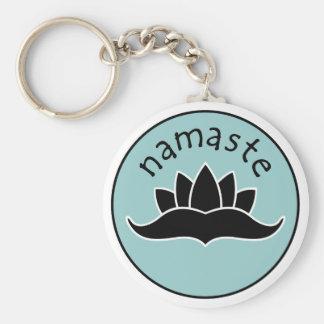 Lotus Namaste Keychain Standard Runder Schlüsselanhänger