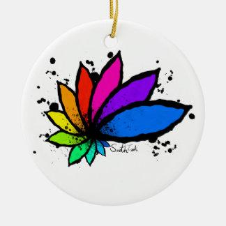 Lotus Rundes Keramik Ornament