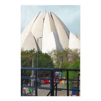 Lotus-Tempel-Neu-Delhi Indien Bahá'í Haus-Anbetung Briefpapier