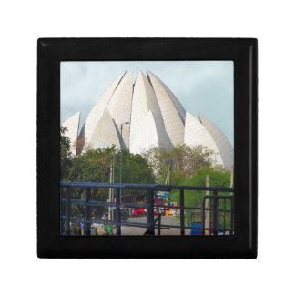 Lotus-Tempel-Neu-Delhi Indien Bahá'í Haus-Anbetung Erinnerungskiste
