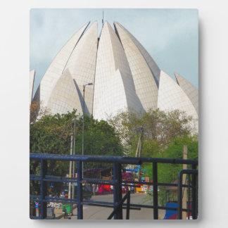 Lotus-Tempel-Neu-Delhi Indien Bahá'í Haus-Anbetung Fotoplatte