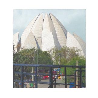 Lotus-Tempel-Neu-Delhi Indien Bahá'í Haus-Anbetung Notizblock