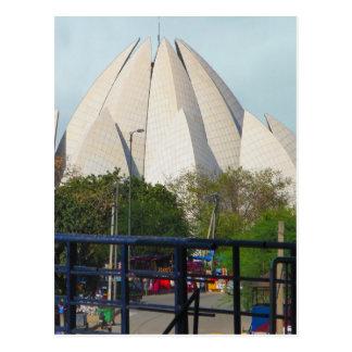 Lotus-Tempel-Neu-Delhi Indien Bahá'í Haus-Anbetung Postkarte