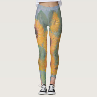 Loughlin Sonnenblume-Malerei Leggings