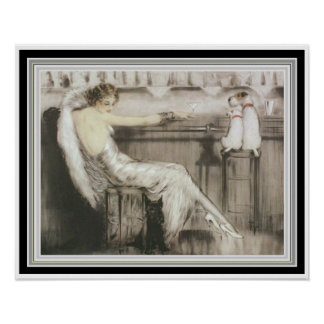 """Louis Icart """"Cocktail-Bar"""" 16 x 20 Poster"""