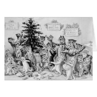 Louis Wain - Katzen, die Weihnachten feiern Karte