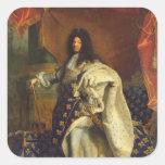 Louis XIV dans le costume royal, 1701 Sticker Carré