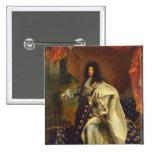 Louis XIV dans le costume royal, 1701 Badge Carré 5 Cm