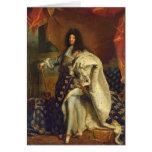 Louis XIV dans le costume royal, 1701 Carte De Vœux