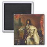 Louis XIV dans le costume royal, 1701 Magnet Carré
