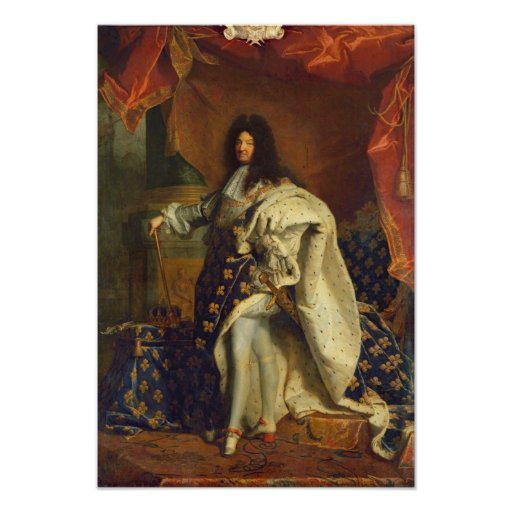 Louis XIV dans le costume royal, 1701 Poster