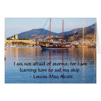 Louisa kann Alcott inspirierend ZITAT Grußkarte