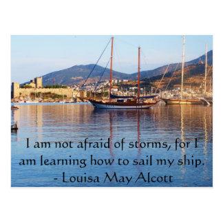 Louisa kann Alcott inspirierend ZITAT Postkarte