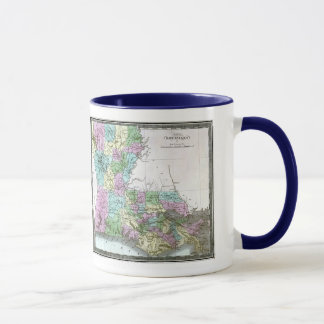 Louisiana-Karte und Staats-Flagge Tasse