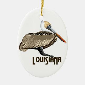 Louisiana-Pelikan Ovales Keramik Ornament