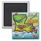 Louisiana Quadratischer Magnet