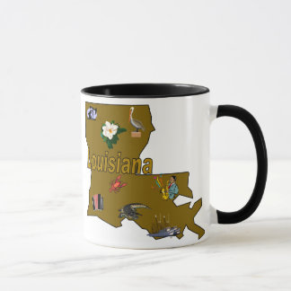 Louisiana-Staats-Info-Tasse Tasse