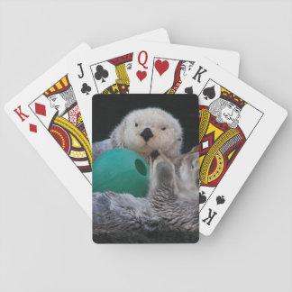 Loutres de mer espiègles jeu de cartes