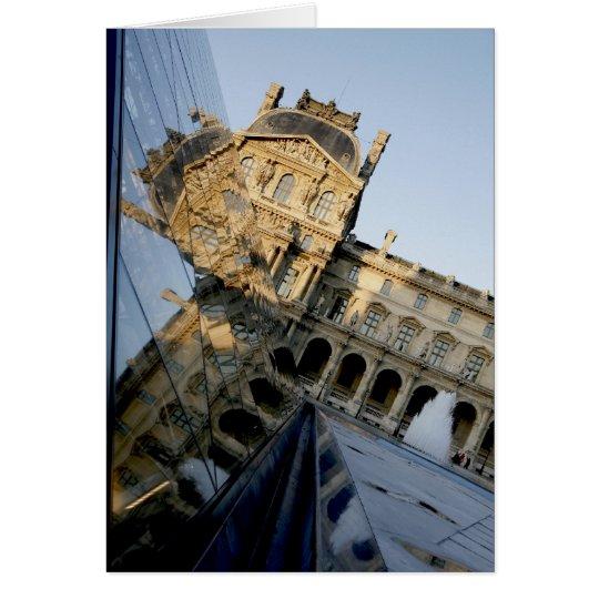 Louvre-Reflexion 01 Grußkarte