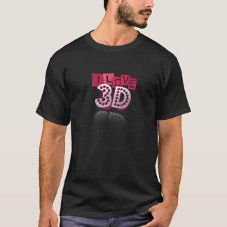 Love-3d- (Schwarzes) T-Shirt