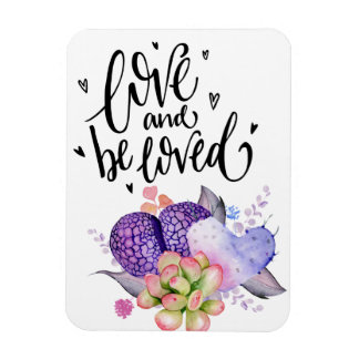 Love and Be Loved Succulents Flexible Magnet
