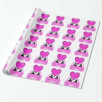 Love car valentines day design geschenkpapier