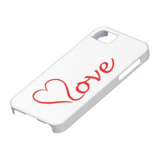 Love Herz auf weißem Hintergrund iPhone 5 Etuis