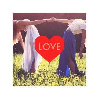 """""""Love"""" Herz Leinwand (Anpassbar)"""