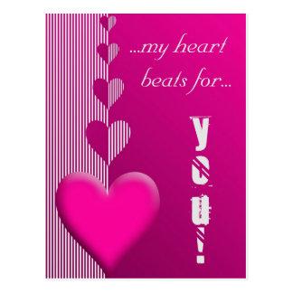 Love message valentines day postcard postkarte