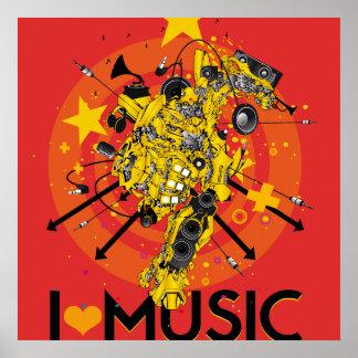 LOVE MUSIC POSTIEREN POSTER