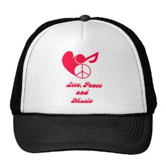 love, peace and music netzmütze