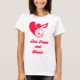 love, peace and music T-Shirt