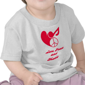 love, peace and music T-Shirts