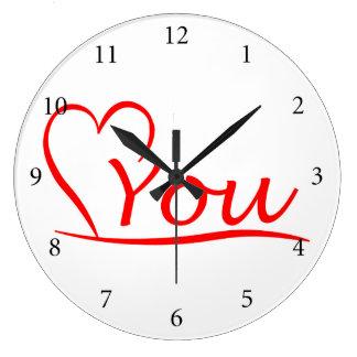 Love You, Mein Herz ist immer offen für dich Große Wanduhr