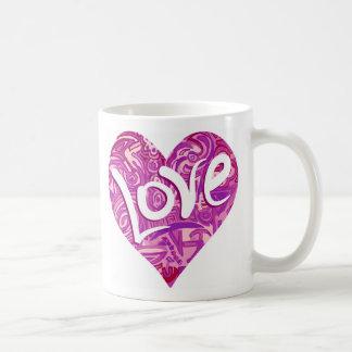 Love zerteilt. Love mug. Tasse