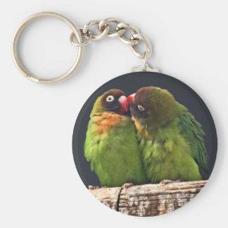 Lovebird-Kuss-Schlüsselring Schlüsselanhänger