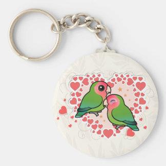 Lovebird-Liebe-Herz Schlüsselanhänger
