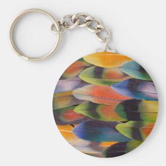 Lovebird-Schwanz versieht abstraktes mit Federn Schlüsselanhänger