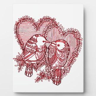 Lovebirds Fotoplatte