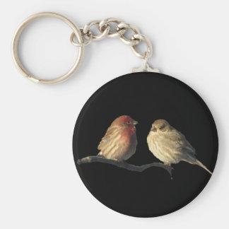 Lovebirds-Haus-Fink-Vögel Schlüsselanhänger