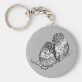 Lovebirds Schlüsselring, Vogel-Kunst Schlüsselanhänger