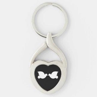 Lovebirds/verdrehten Herz-Metall Keychain Schlüsselanhänger