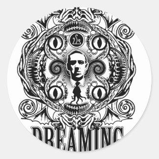 Lovecraftian Träume Runder Aufkleber
