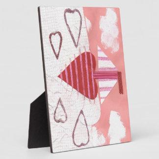 Loveheart Boot auf einem Gestell Fotoplatte